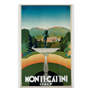 Monte Catini Italy Vintage Travel Poster