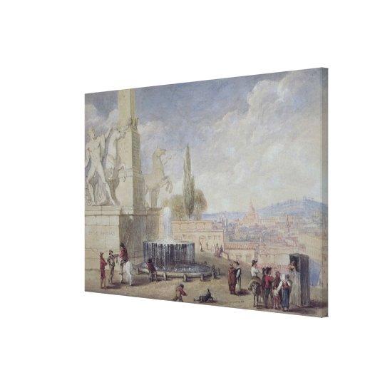 Monte Cavallo, Rome Canvas Print