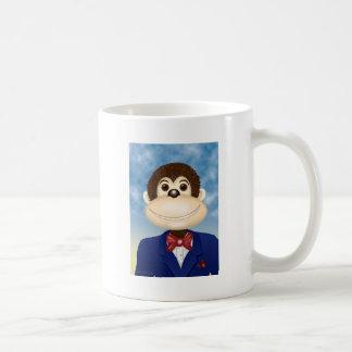 Monte el mono sonriente taza de café