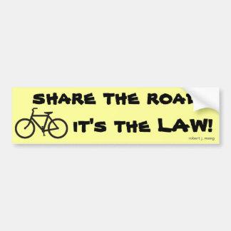 ¡Monte en bicicleta, comparta el camino, él es la  Pegatina Para Auto