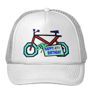 Monte en bicicleta los 4tos regalos de cumpleaños gorro de camionero