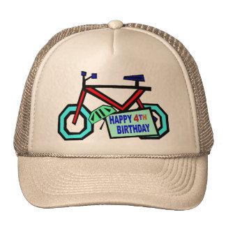 Monte en bicicleta los 4tos regalos de cumpleaños gorras de camionero