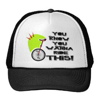 Monte este Unicycle Gorro De Camionero