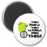 Monte este Unicycle Iman Para Frigorífico