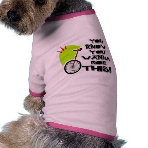 Monte este Unicycle Ropa De Perros
