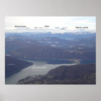 Monte Generoso - Swiss Alpine Skyline Poster