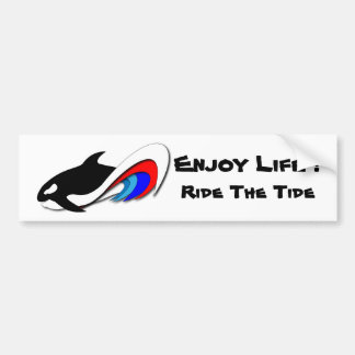 ¡Monte la marea, disfrute de la vida! Pegatina par Pegatina De Parachoque