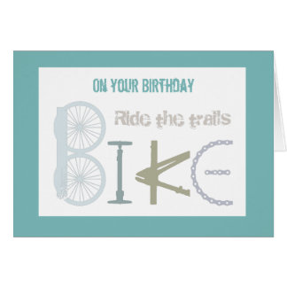 Monte la montaña de los rastros Biking cumpleaños Tarjeta De Felicitación