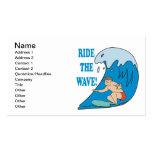 Monte la onda tarjetas de visita