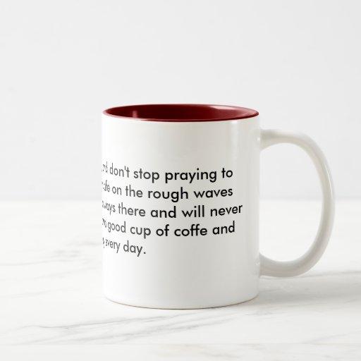 Monte las ondas al extremo, y no pare el prayi… tazas de café