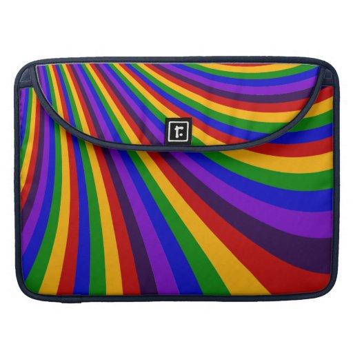 Monte las rayas coloridas de la diapositiva del ar funda macbook pro