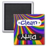Monte las rayas coloridas de la diapositiva del ar imanes de nevera