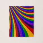 Monte las rayas coloridas de la diapositiva del ar puzzle con fotos