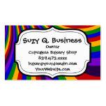 Monte las rayas coloridas de la diapositiva del ar tarjeta personal