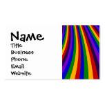 Monte las rayas coloridas de la diapositiva del ar tarjeta de visita