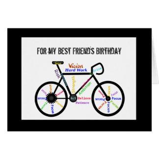 Monte los rastros Biking cumpleaños del mejor Tarjeta De Felicitación