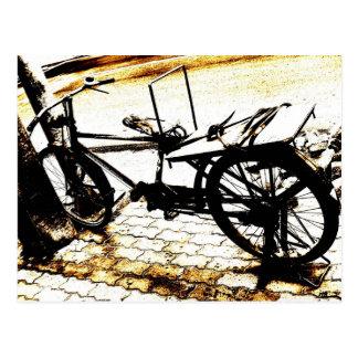 Monte mi bici - vintage tarjetas postales