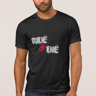 Monte o muera camiseta inspirada del motorista del playeras