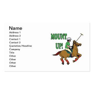 Monte para arriba tarjetas de visita
