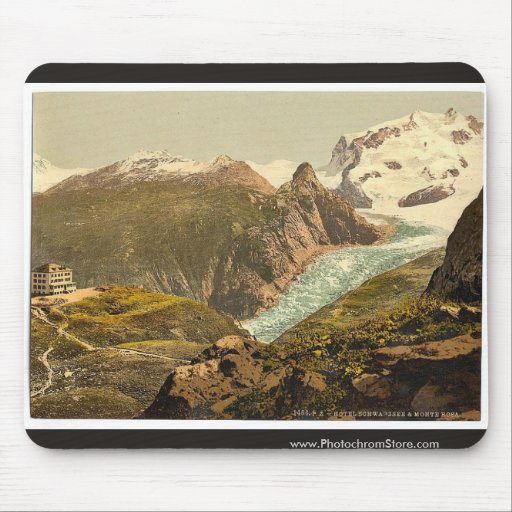 Monte Rosa and Hotel Schwarzsee, Valais, Alps of, Mouse Pad