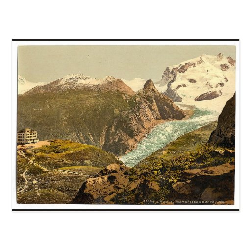 Monte Rosa and Hotel Schwarzsee, Valais, Alps of, Post Cards