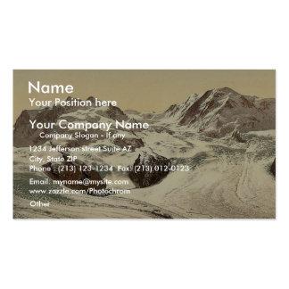 Monte Rosa Lyskamm with Gorner Glacier Valais Business Card Template