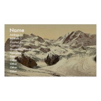 Monte Rosa Lyskamm with Gorner Glacier Valais Business Cards