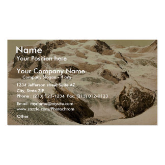 Monte Rosa Valais Alps of Switzerland vintage P Business Cards