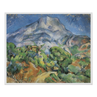 Monte Sainte-Victoire above the Tholonet road Poster