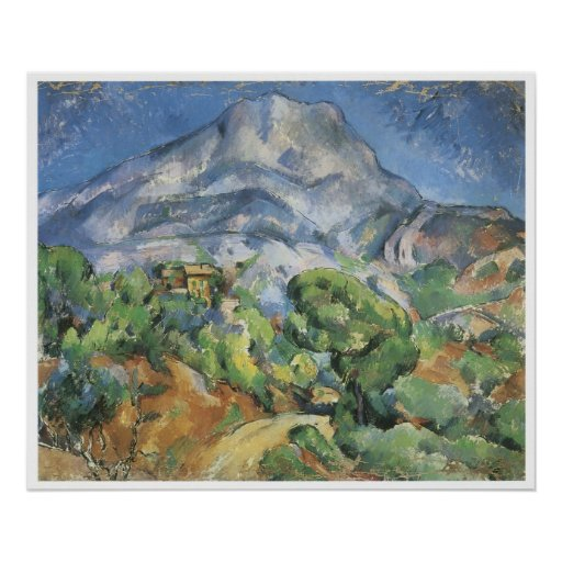 Monte Sainte-Victoire sobre el camino de Tholonet Póster