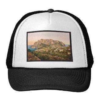 Monte Solaro, Capri, isla de, vintage Phot de Ital Gorros Bordados