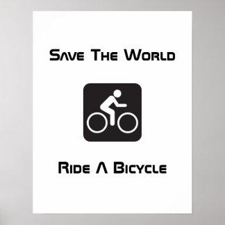 Monte un poster de la bicicleta