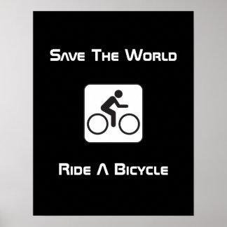 Monte un poster de la negativa de la bicicleta