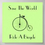 Monte un poster del cuadrado del vintage de la bic
