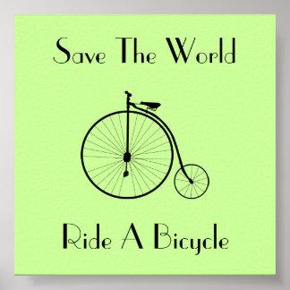 Monte un poster del cuadrado del vintage de la bic póster