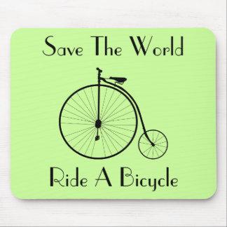 Monte un vintage Mousepad de la bicicleta Tapete De Ratones