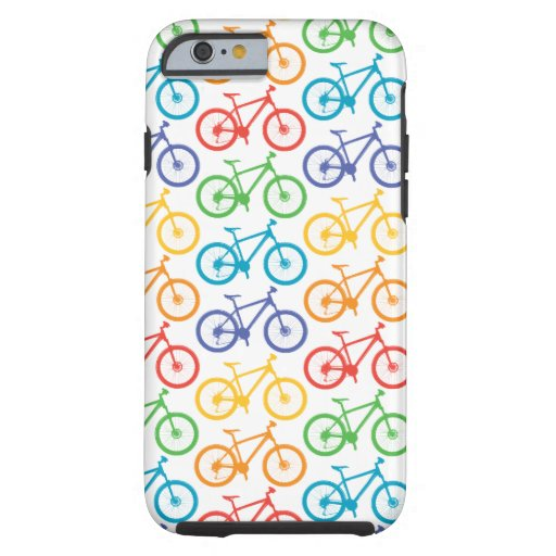 Monte una bici Marin - caja blanca del iPhone 6 Funda De iPhone 6 Tough