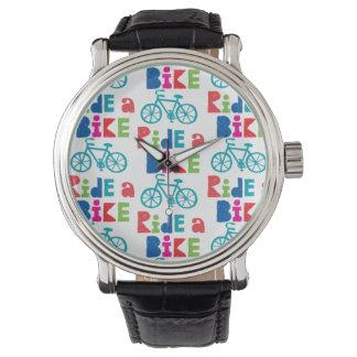 Monte una bici relojes de pulsera