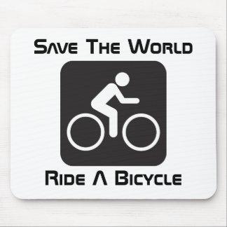 Monte una bicicleta Mousepad Tapete De Raton