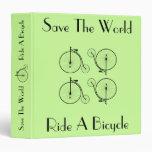 Monte una carpeta del vintage de la bicicleta