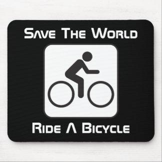 Monte una negativa Mousepad de la bicicleta Alfombrillas De Ratones