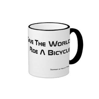 Monte una taza de café de la bicicleta