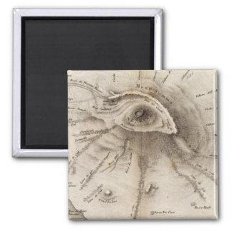 Monte Vesuve 2 Inch Square Magnet