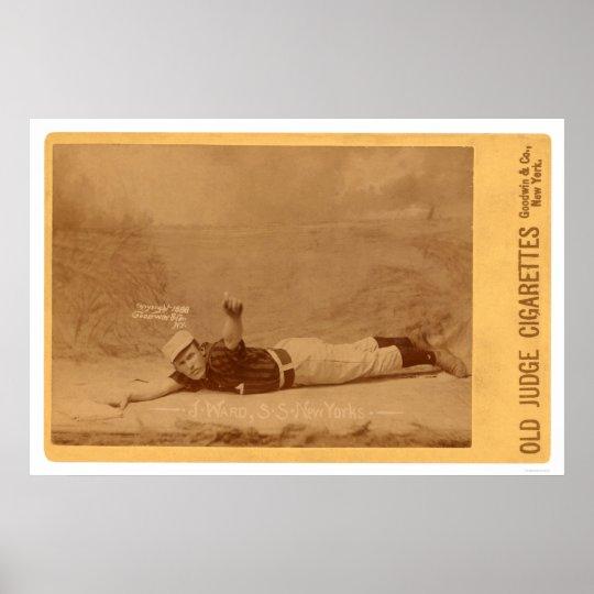 Monte Ward Baseball Card 1889 Poster