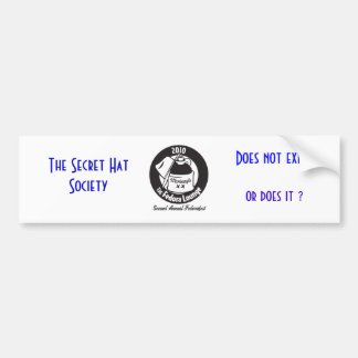 MonteagleShirt_BlackArtOnWhiteShirt, The Secret... Car Bumper Sticker