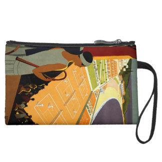 Montecarlo Suede Wristlet Wallet