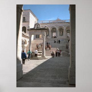 Montecassino Abbey entrance Print