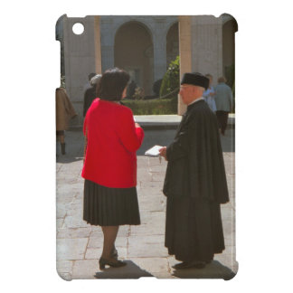 Montecassino Chatting to a monk Cover For The iPad Mini