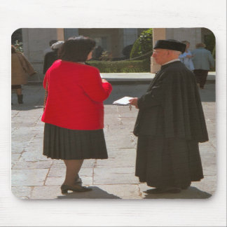 Montecassino, Chatting to a monk Mouse Pads