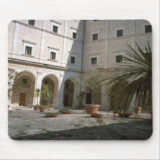 Montecassino, Corner of the courtyard Mousepads